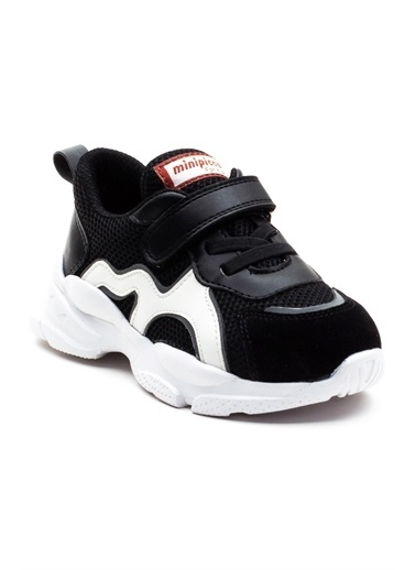 minipicco Erkek Cocuk Ortopedik Destekli Spor Ayakkabı Siyah